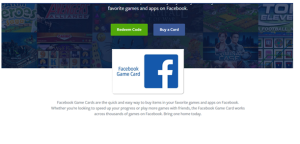 How can I redeem my Facebook gift card to buy items in the game