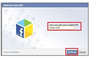 Redeem your facebook gift card this ways.