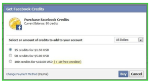Redeem your facebook gift card now..